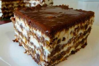 Необычный и очень полезный торт без выпечки