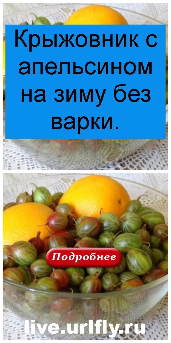 Крыжовник с апельсином на зиму без варки 4