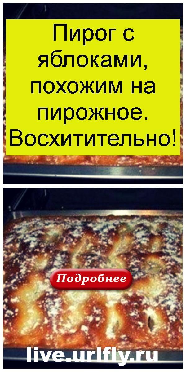Пирог с яблоками, похожим на пирожное. Восхитительно 4
