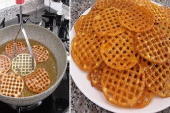 Рецепт хрустящего и вкусного десерта, который готовится при помощи картофельной толкушки 1